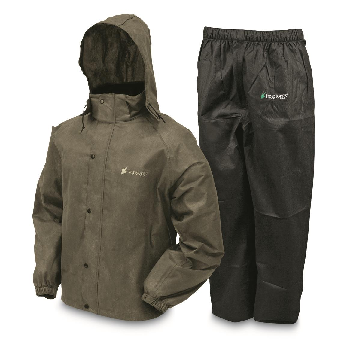 Frogg Toggs Men's Waterproof All Sport Rain Suit, Stone/Black