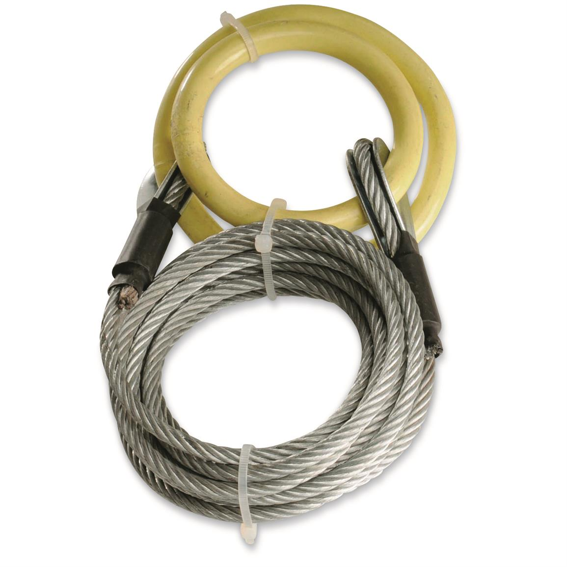Heavy-duty cable measures 10¿ long x 3/16 , 1,500-lb capacity