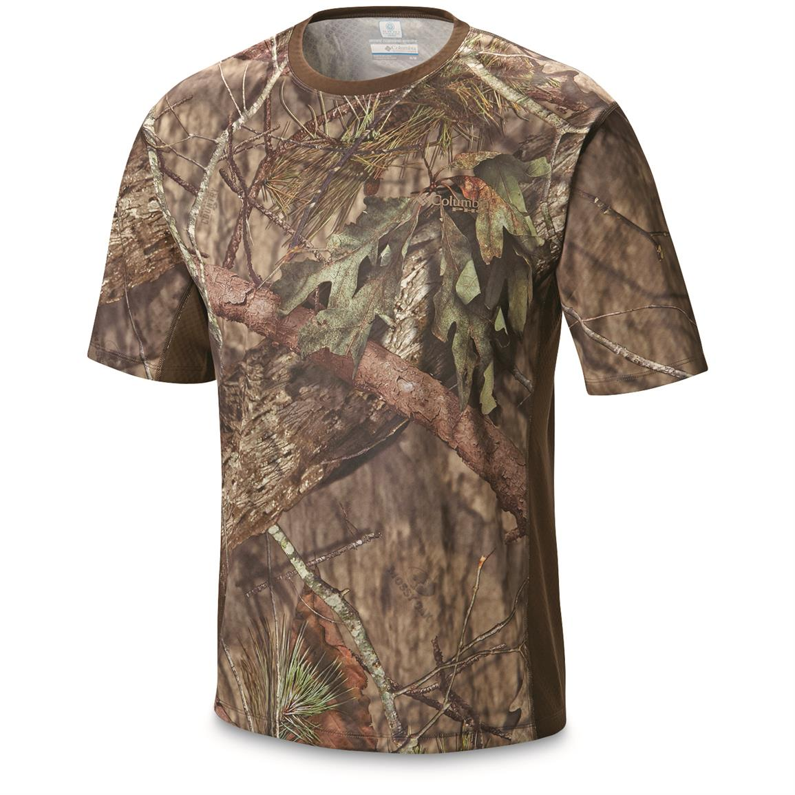 Columbia Men's Stealth Shot lll Zero Short Sleeve Shirt, Mossy Oak Break-Up Country