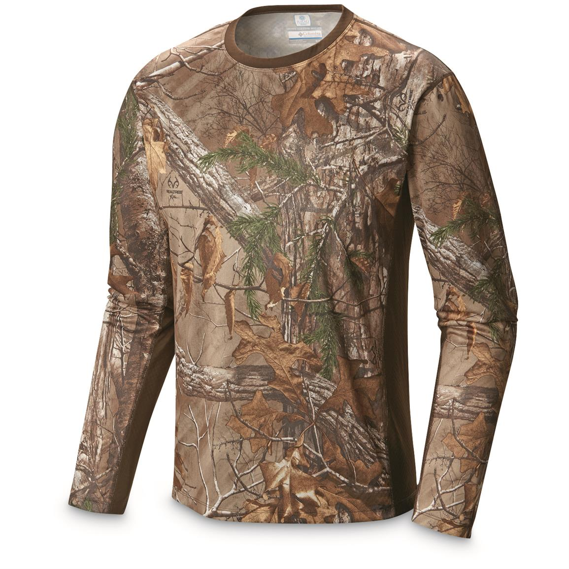 Columbia Men's Stealth Shot lll Zero Long Sleeve Shirt, Realtree Xtra
