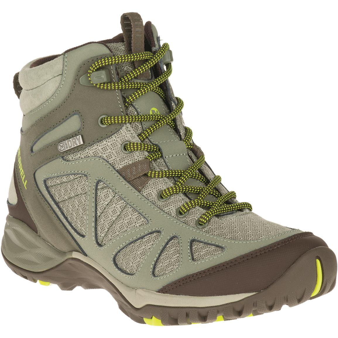 Merrell Women's Siren Sport Q2 Waterproof Hiking Shoes, Dusty Olive