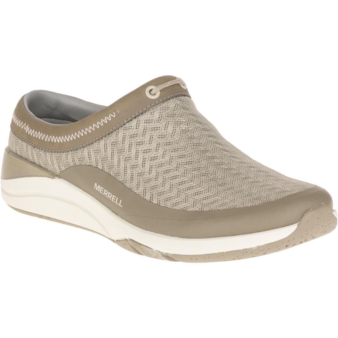 Merrell Applaud Women's Mesh Slide Shoes, Taupe