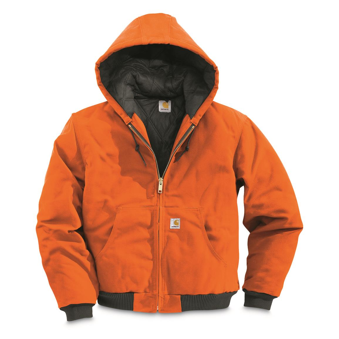 Carhartt Men's Quilted Flannel-Lined Active Jacket, Blaze Orange