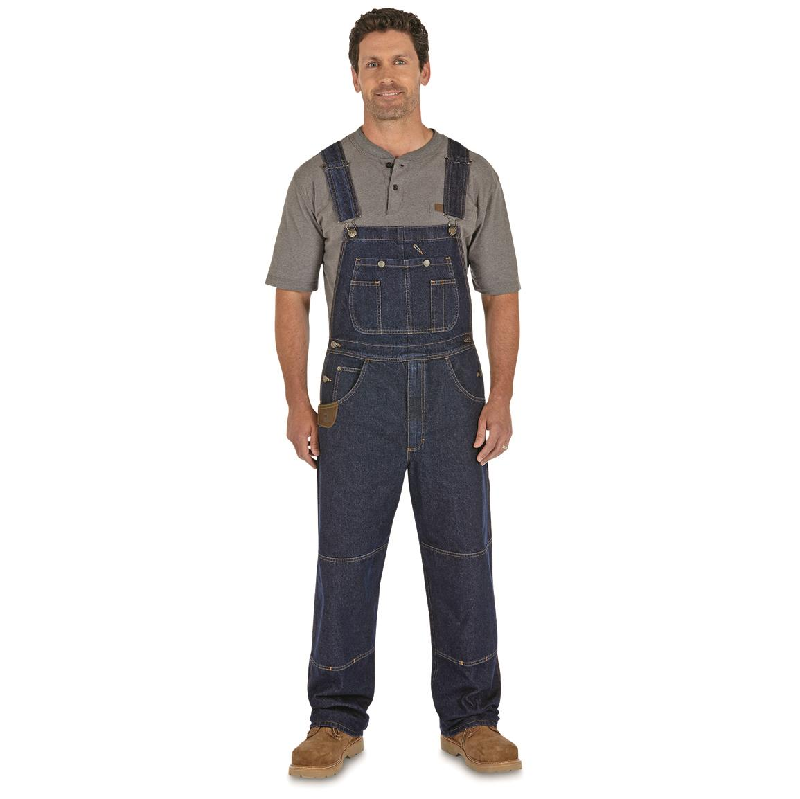 Wrangler RIGGS Workwear Men's Bib Overalls, Antique