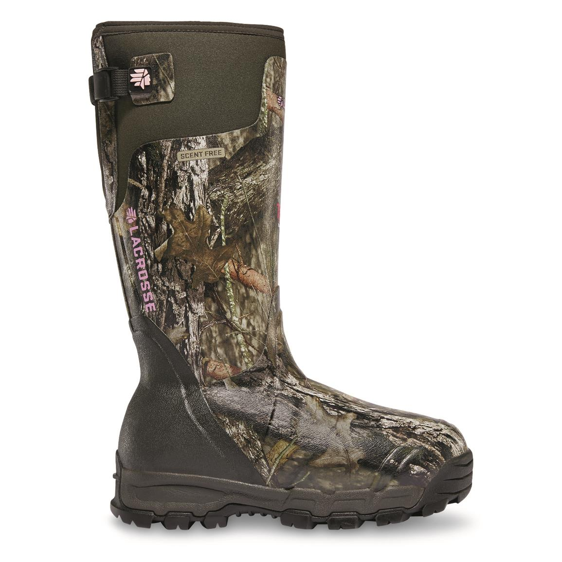 "LaCrosse 15"" Alphaburly Pro Women's Insulated Camo Hunting Boots, 1,600 Gram, Mossy Oak Break-Up Country"