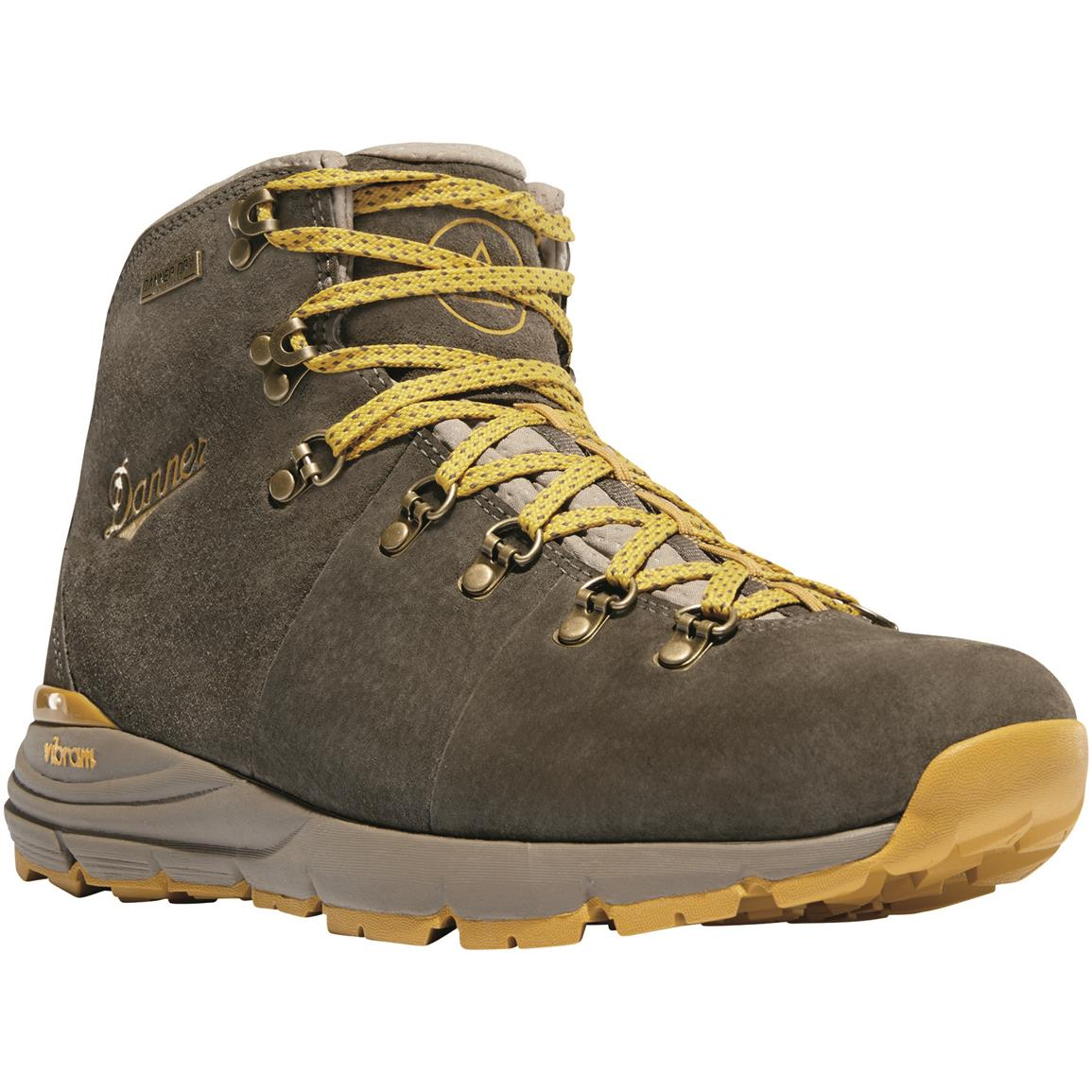 "Danner Mountain 600 4.5"" Men's Suede Waterproof Hiking Boots, Hazelwood"