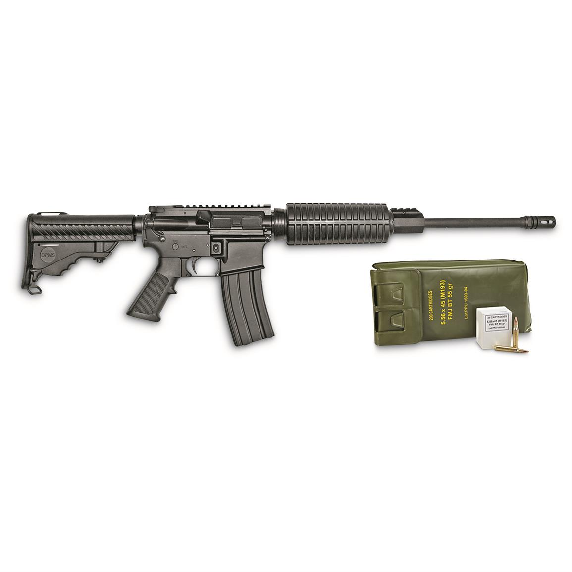 DPMS Panther Oracle, Semi-Automatic, 5.56x45mm, 30+1 Rounds with PMC Bronze 200-rd. Ammo Battle Pack