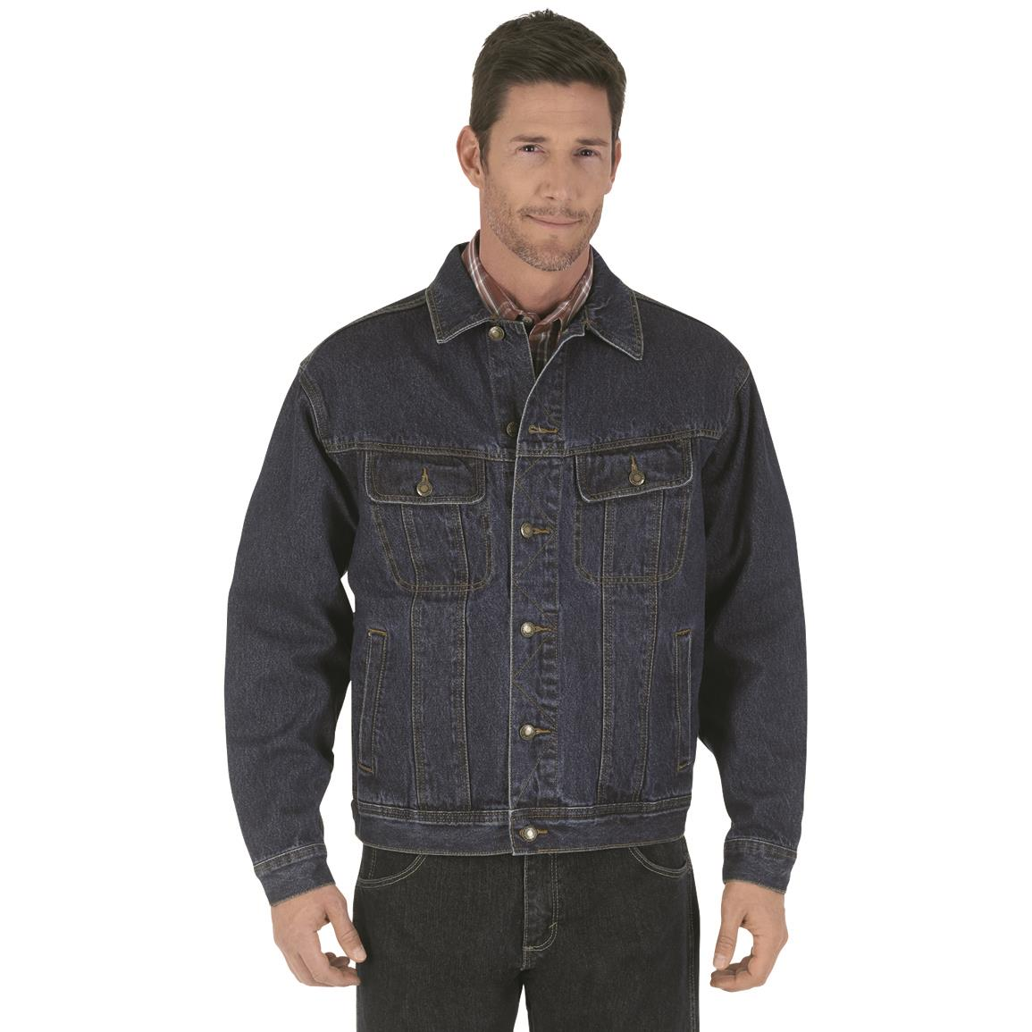 Wrangler Rugged Wear Men's Denim Jacket, Antique Indigo