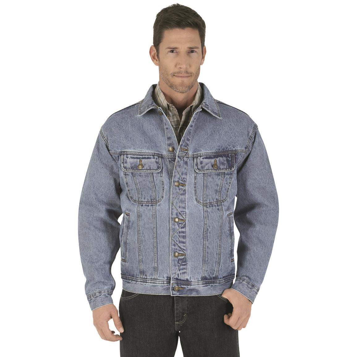 Wrangler Rugged Wear Men's Denim Jacket, Vintage Indigo