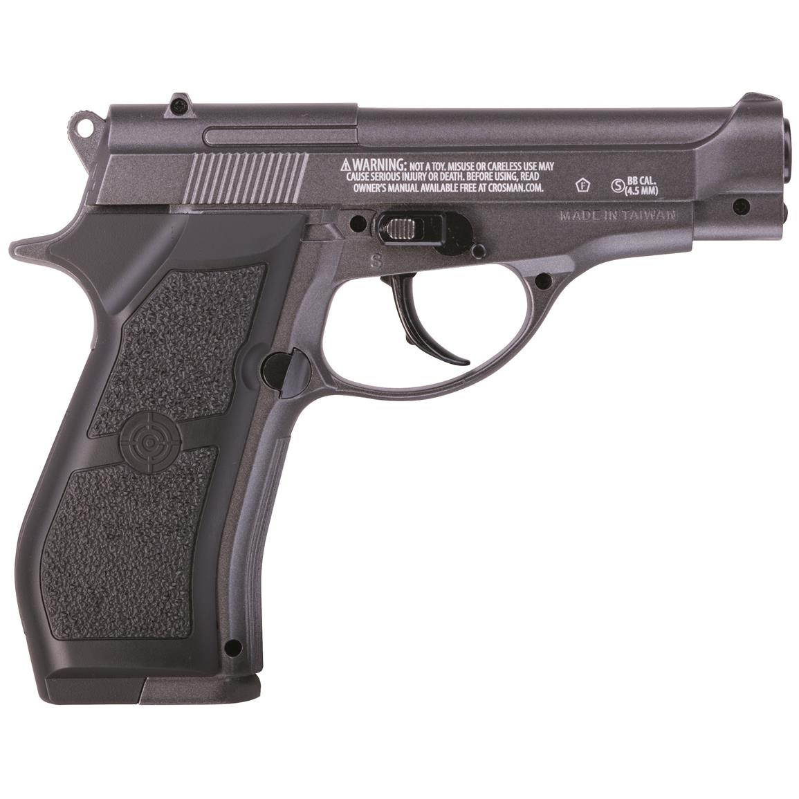 Crosman PFM16 Full Metal CO2 BB Pistol, .177 Caliber