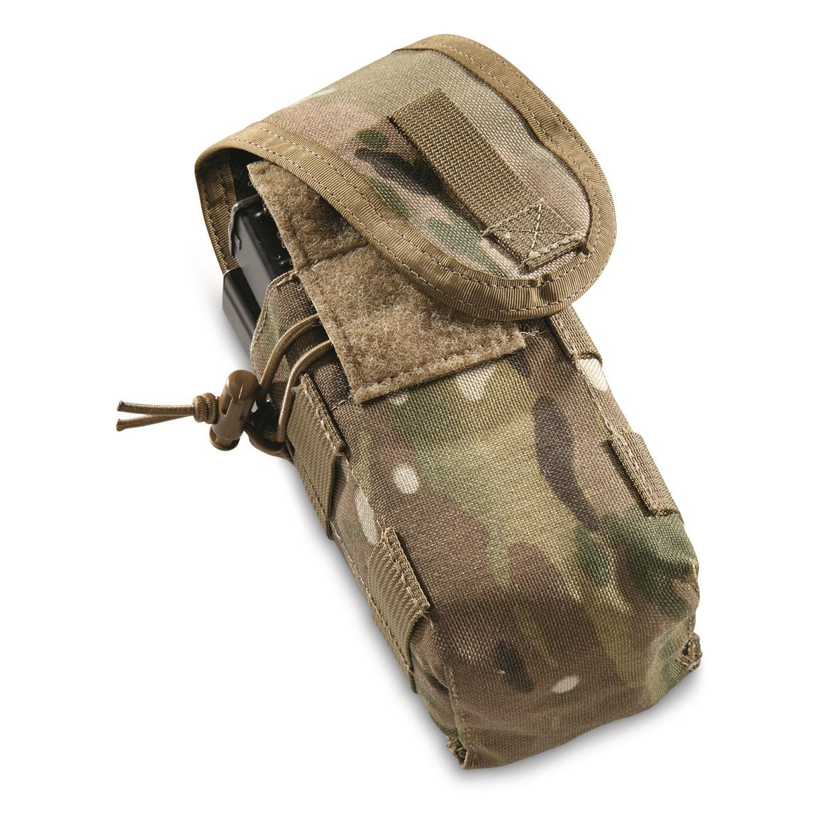 U.S. Military Surplus Stacked 3 Mag Pouch, New