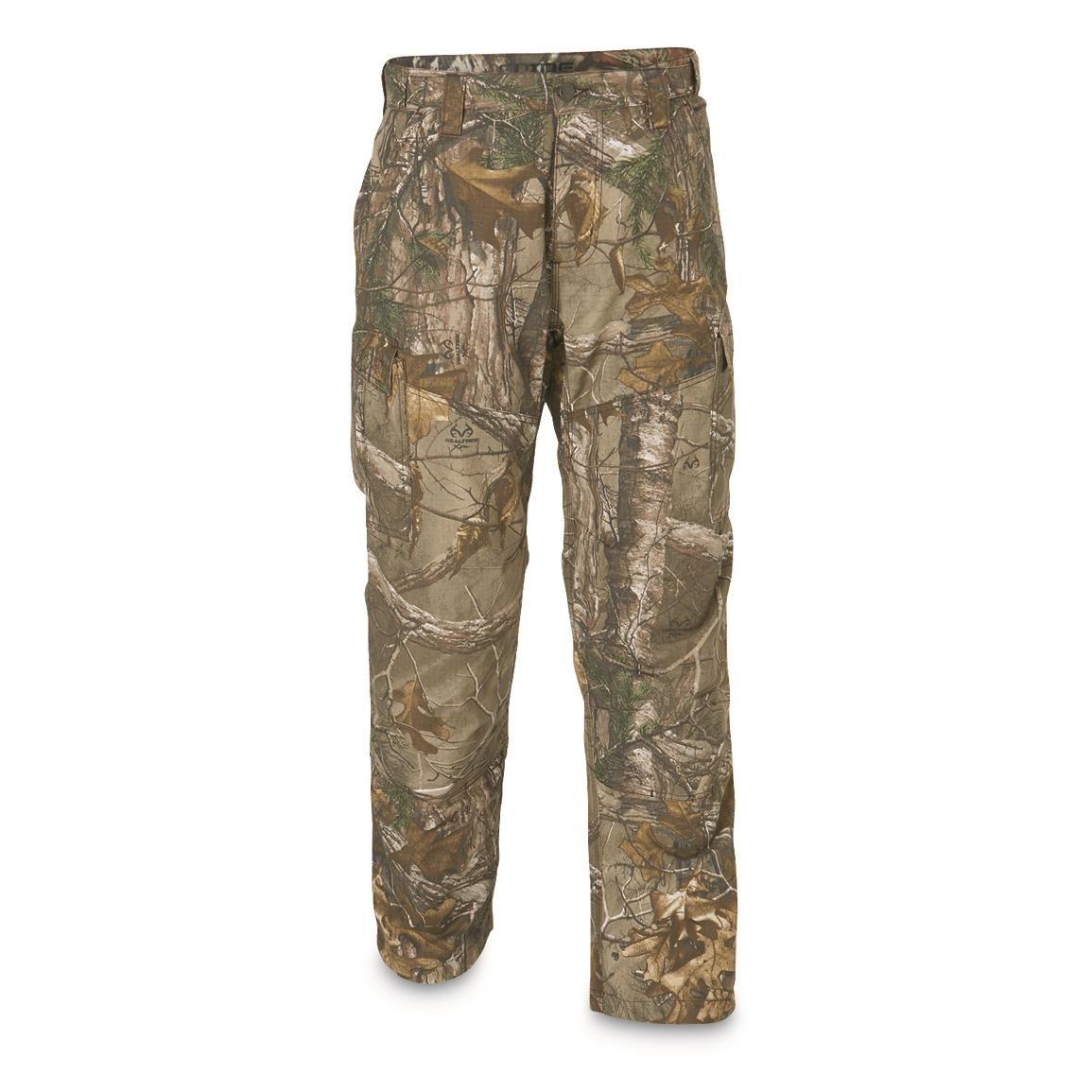Guide Gear Men's 7-Pocket Ripstop Pants, Realtree Xtra