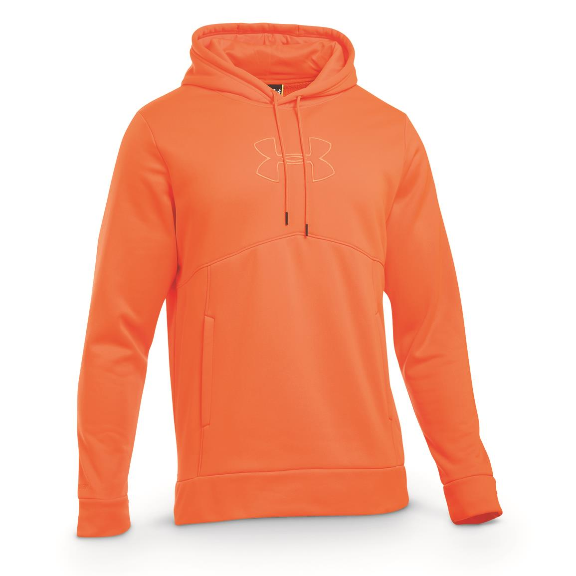 Under Armour Men's Icon Caliber Hoodie, Blaze Orange