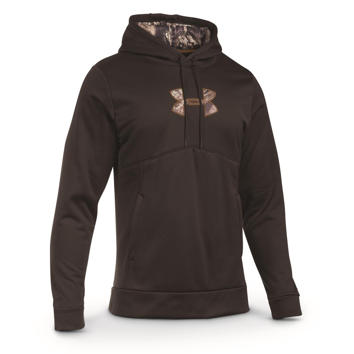Under Armour Men's Icon Caliber Hoodie, Cannon/Mossy Oak Break-Up Country