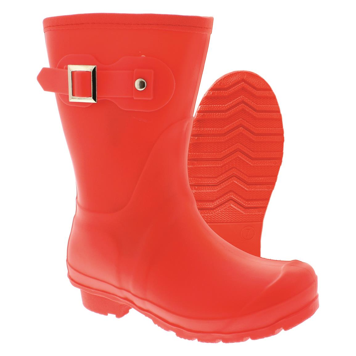 "Itasca Women's 10"" Rain Lake PVC Rain Boots, Watermelon"