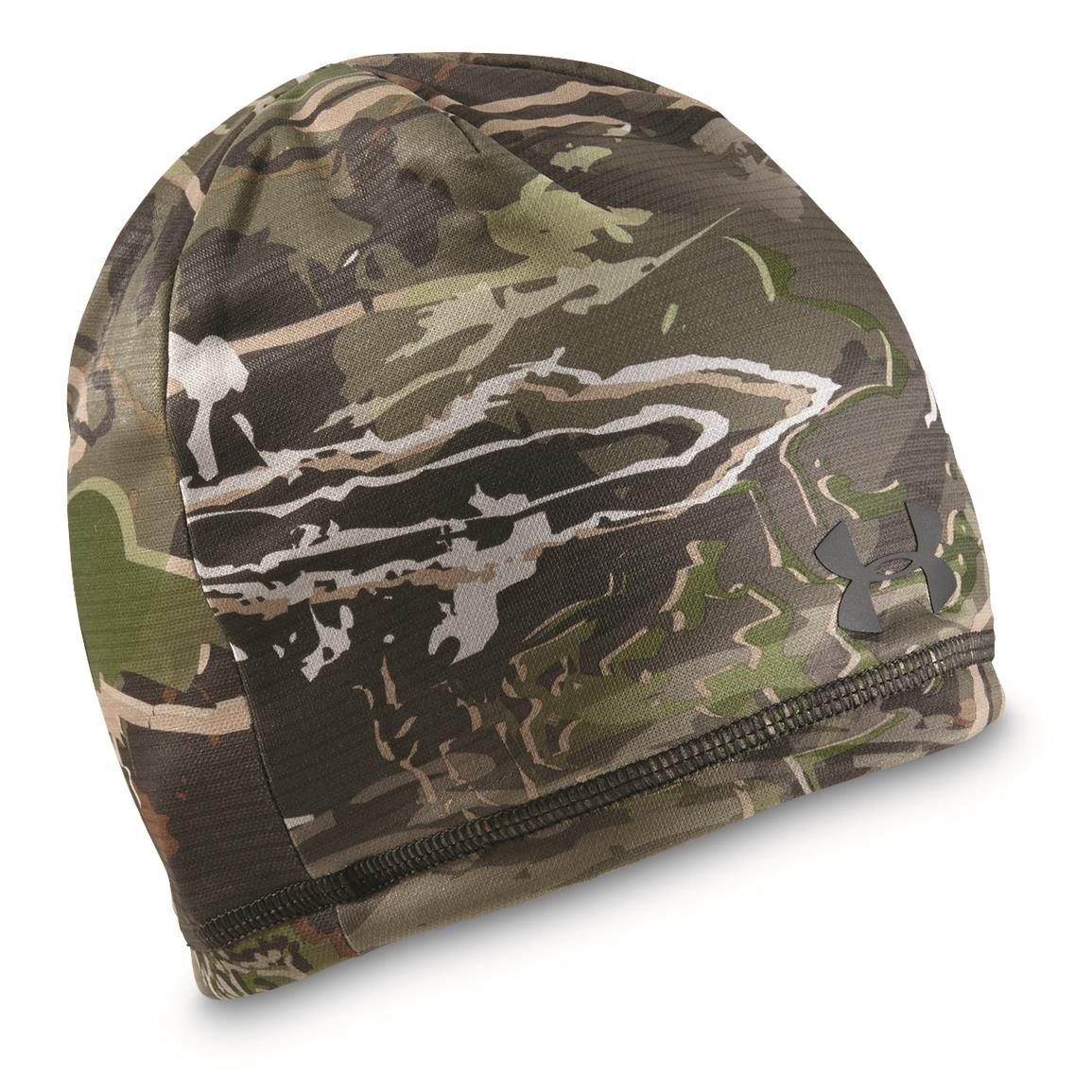 Under Armour Youth Scent Control Storm Fleece Beanie, Camo Barren/Black