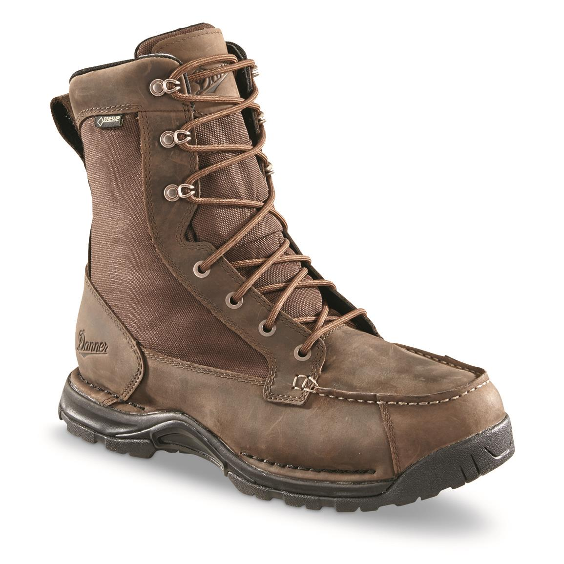 "Danner Men's Sharptail 8"" Lace Up Waterproof Hunting Boots, Brown"
