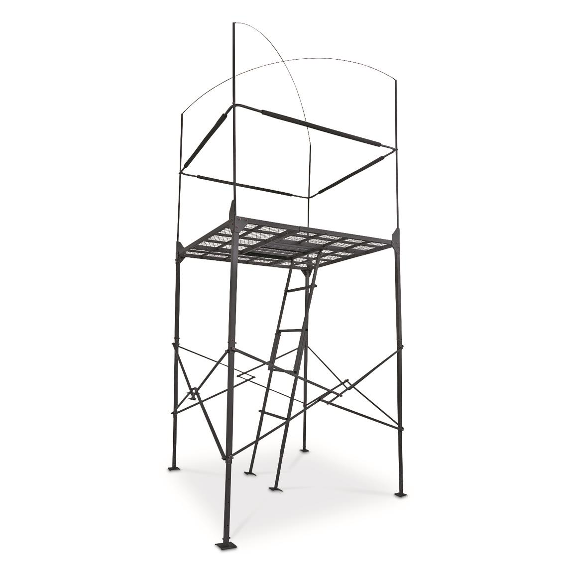 primal tree stands 7 homestead quad pod stand with enclosure Blind Dog Equipment primal tree stands 7 homestead quad pod stand with enclosure hunting blind