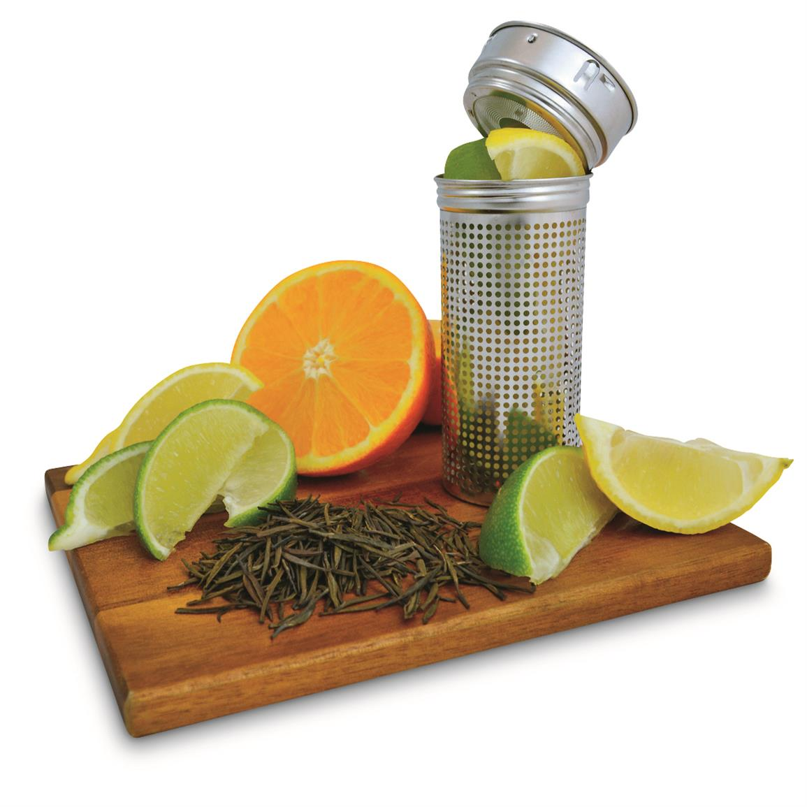 Easily infuse your water with fruit or tea