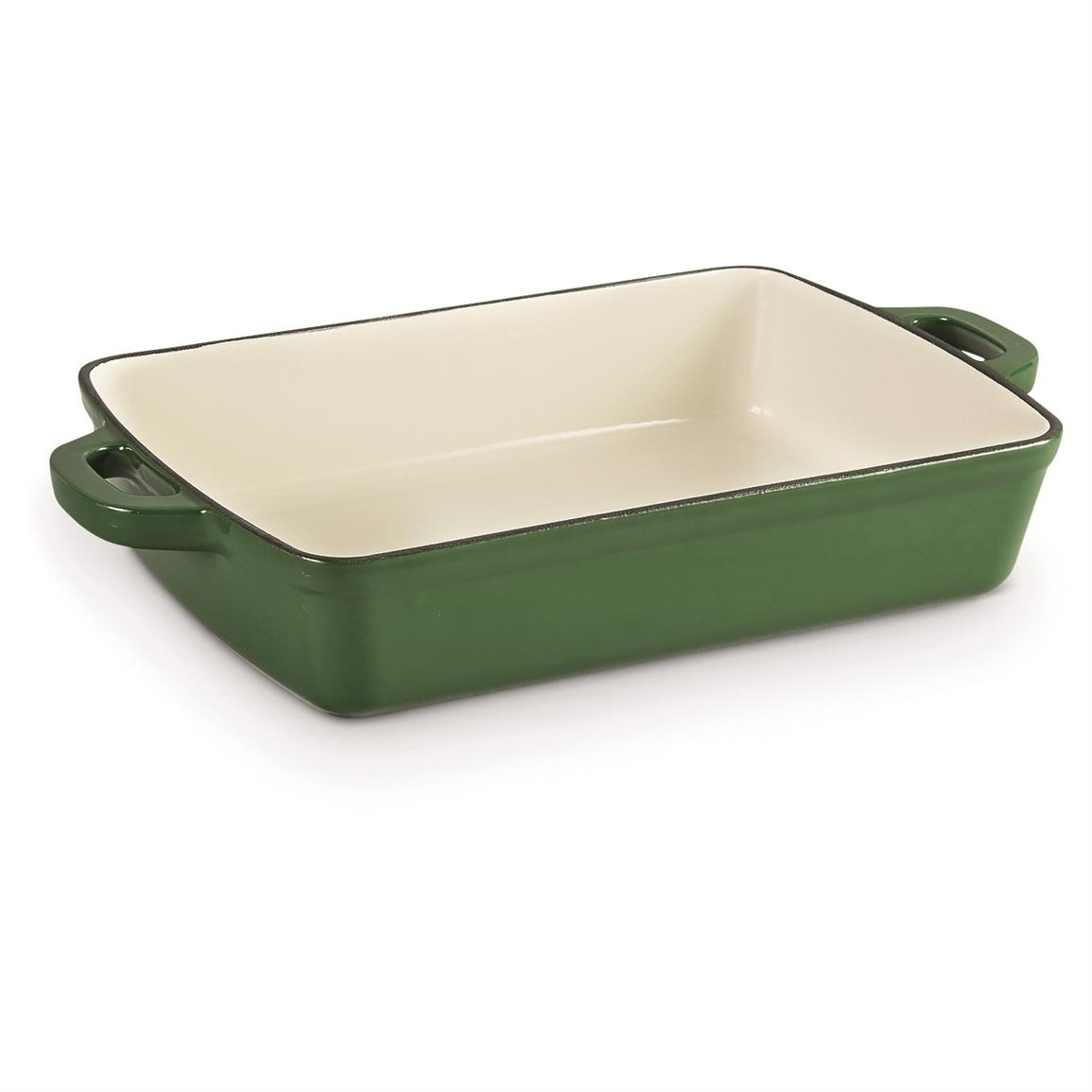 CASTLECREEK Enameled Cast Iron Baking Pan, Green