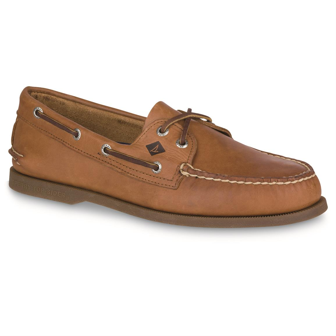 Sperry Men's Authentic Original 2 Eye Boat Shoes, Sahara