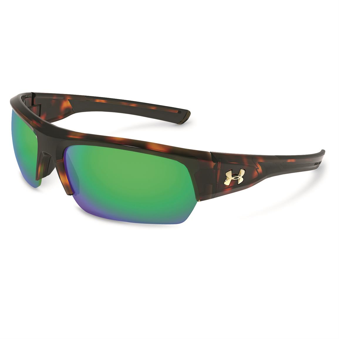 Under Armour Men's Big Shot Polarized Sunglasses, Brown/Green