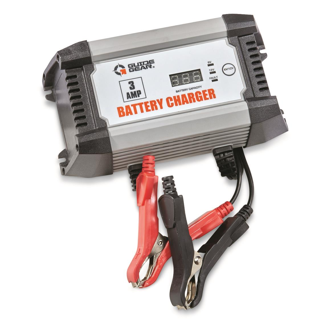 Guide Gear 3A 6V/12V Smart Battery Charger
