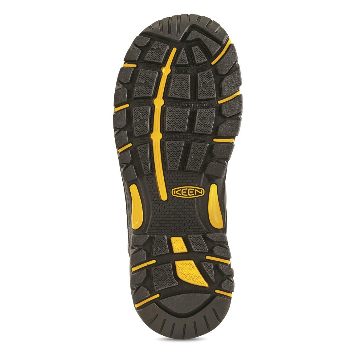 Non-marking outsole is oil and slip-resistant for traction