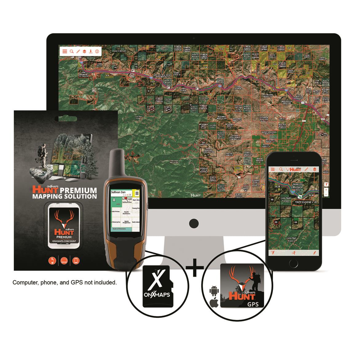 OnXmaps HUNT Premium State Specific GPS Chip
