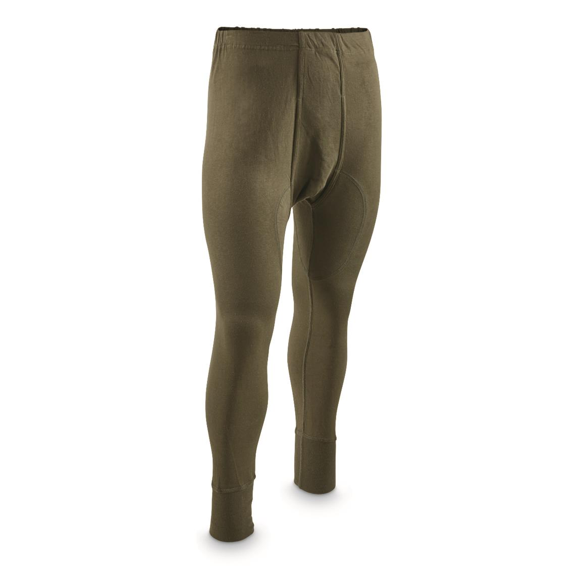 German Military Surplus Long John Bottoms, 5 pack, New