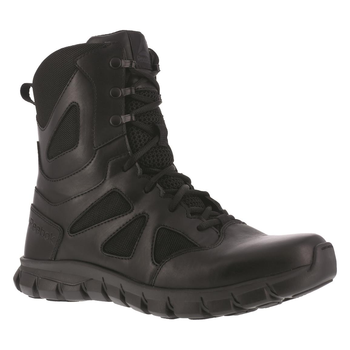 "Reebok 8"" Sublite Cushion Men's Waterproof Tactical Boots, Black"
