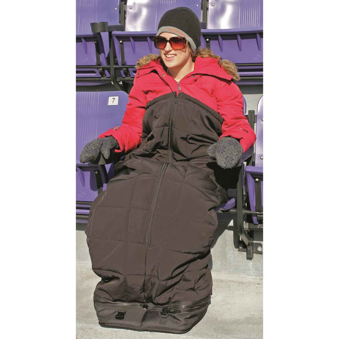 Half in the Bag, Insulated Stadium Style, Black