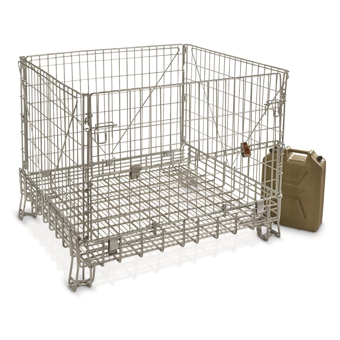 U.S. Military Surplus Steel Cage Storage Bin, New