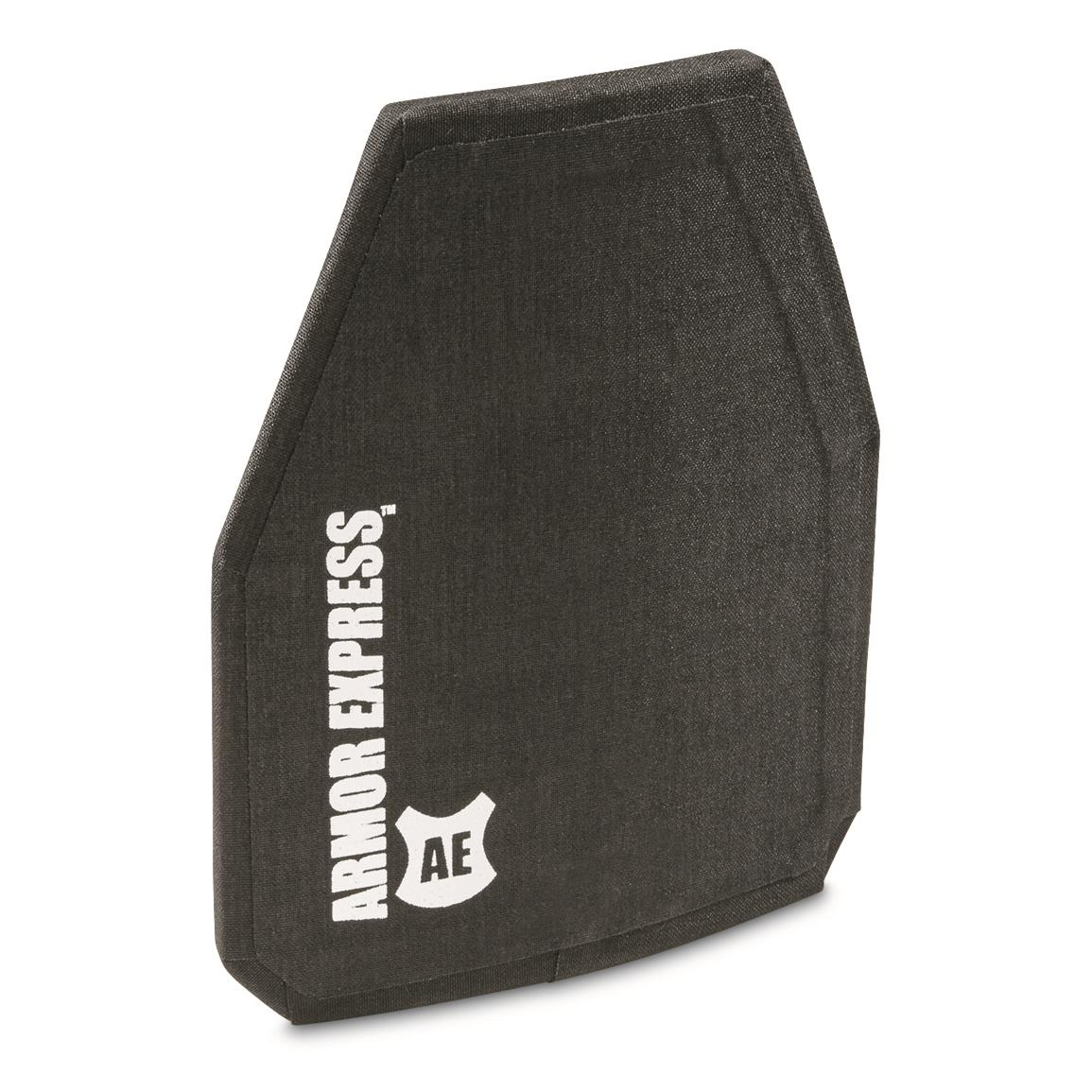 "Armor Express H-Shock Special Threat Armor Plate, 10x12"" Shooters Cut, Black"