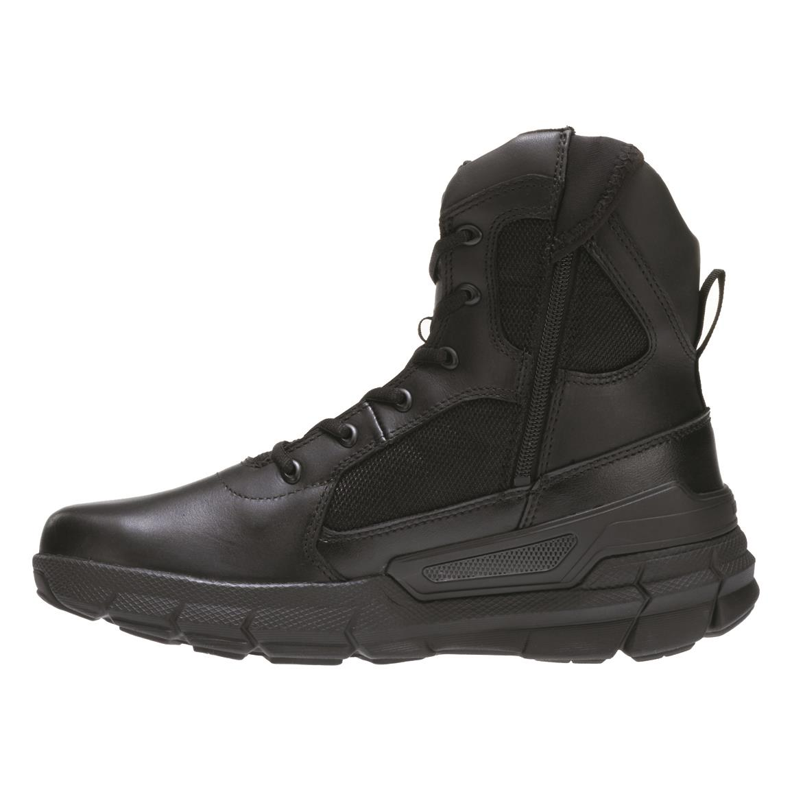"Bates Men's 8"" Charge Side-Zip Tactical Boots, Black"