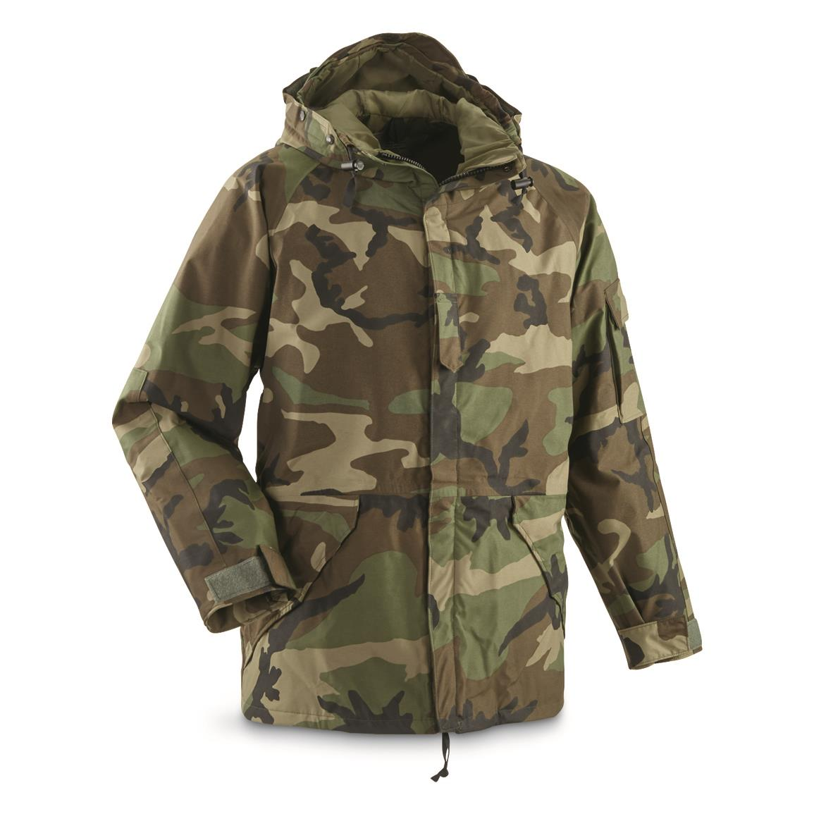 U.S. Military Surplus GORE-TEX Parka, New - 703207, Rain Gear ...