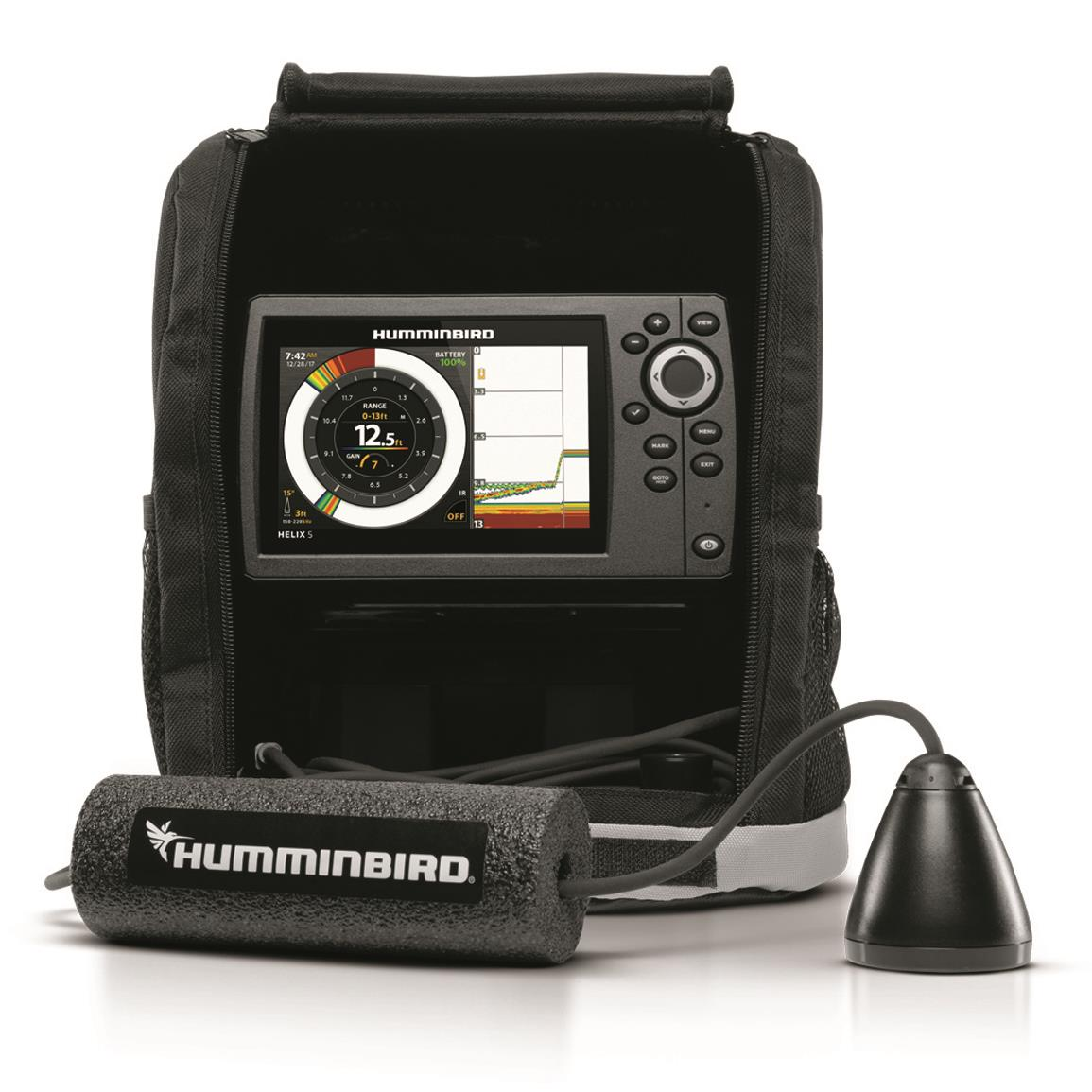 humminbird ice helix 5 chirp gps g2 sonar fish finder 703271 ice fishing electronics at. Black Bedroom Furniture Sets. Home Design Ideas