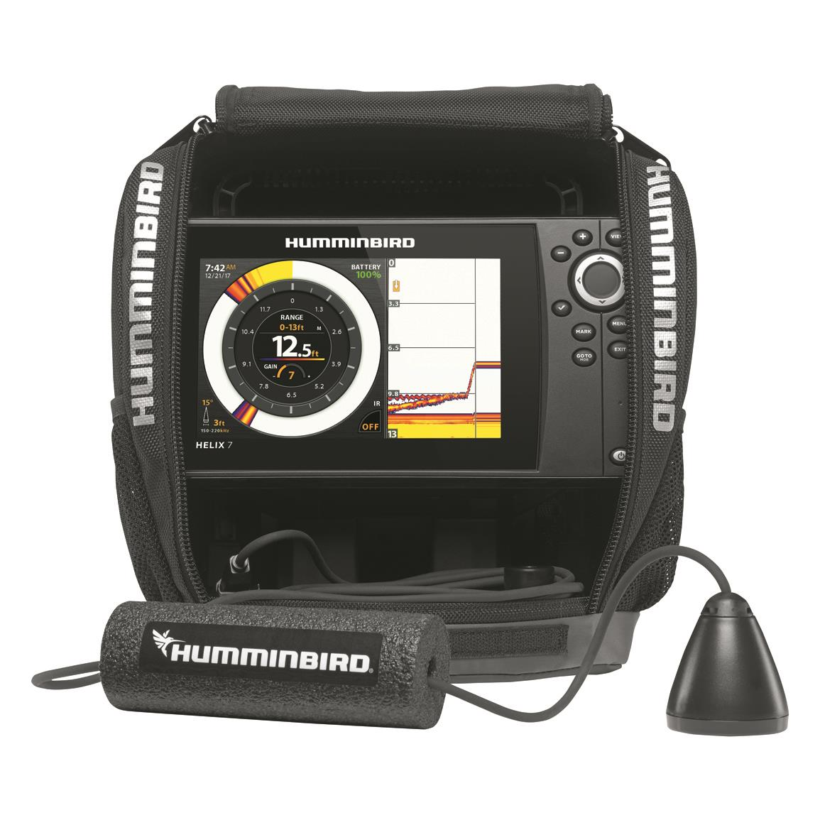 Humminbird ice helix 7 chirp gps g2 sonar fish finder for Ice fishing electronics
