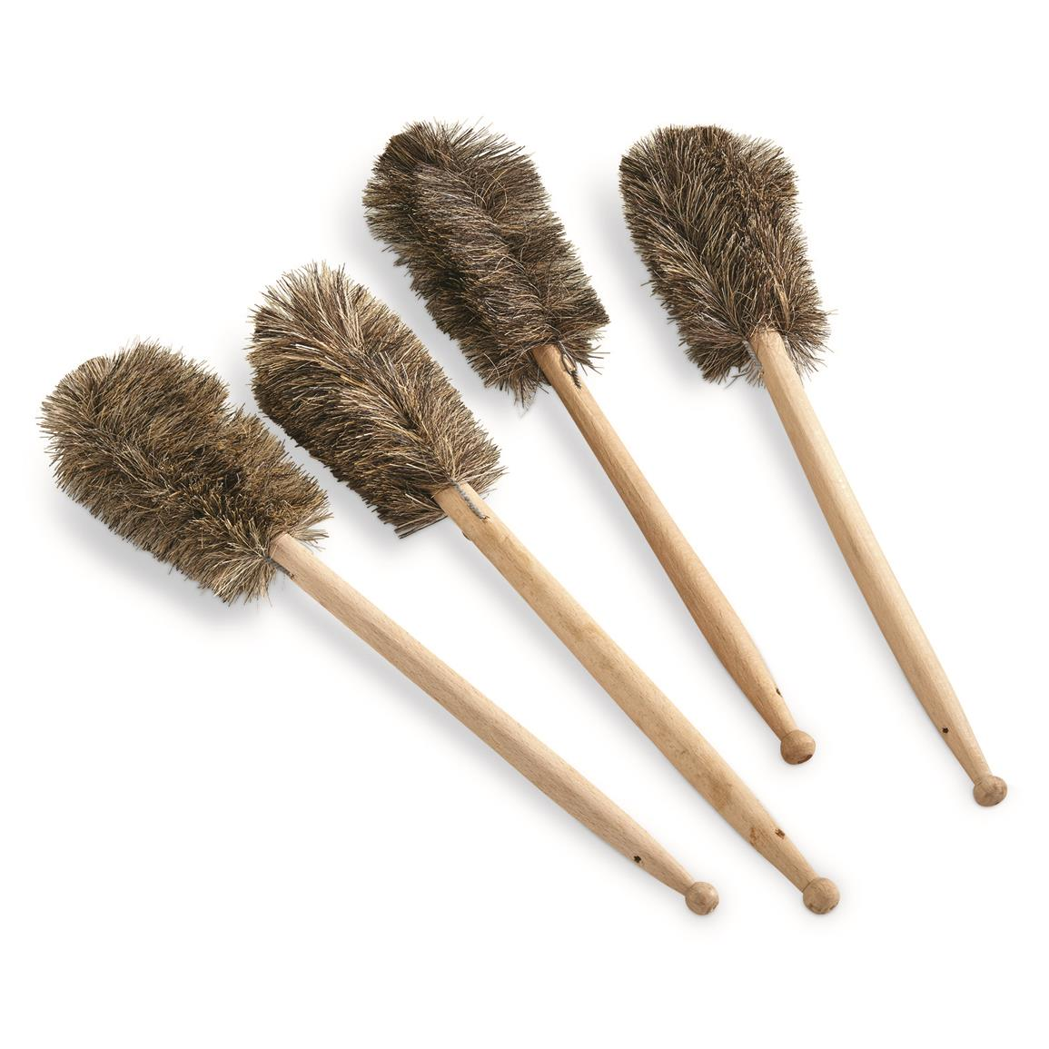 Czech Republic Military Surplus Cleaning Brushes, 4 Pack, New