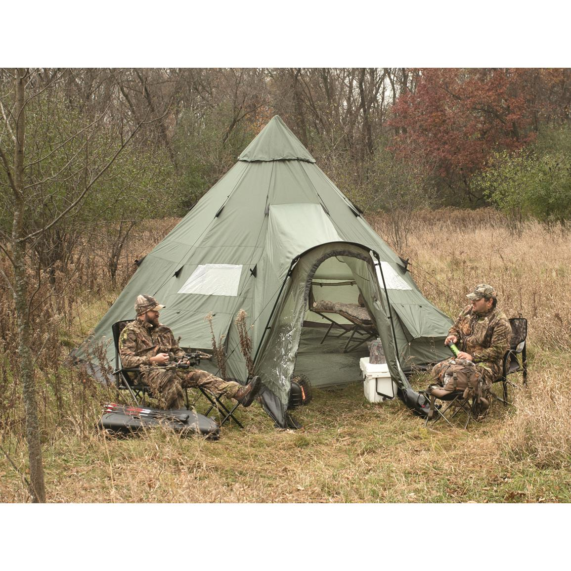 Guide Gear Deluxe 18' x 18' Teepee Tent