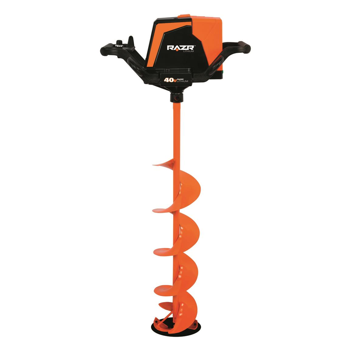 Razr 40v lithium electric ice auger 8 diameter 703980 for Ice fishing augers
