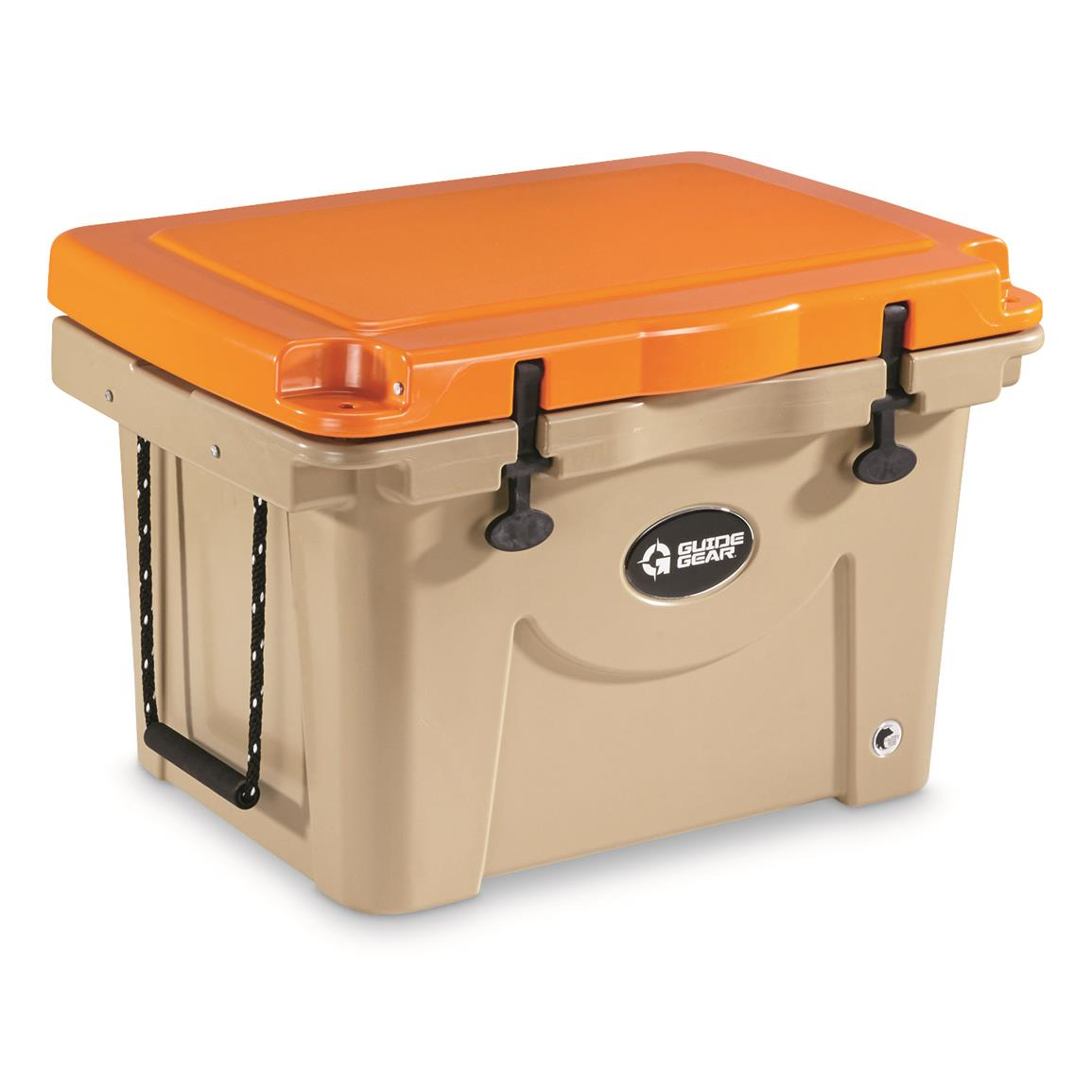 Guide Guide 60 Quart Cooler, Orange/Tan