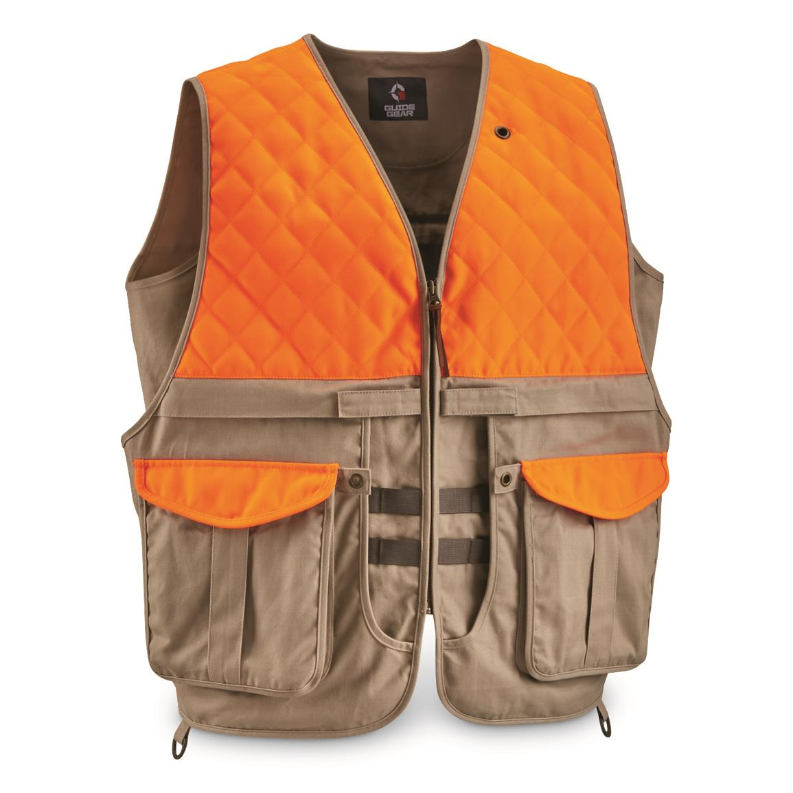 Guide Gear Men's Upland Vest, Khaki/blaze