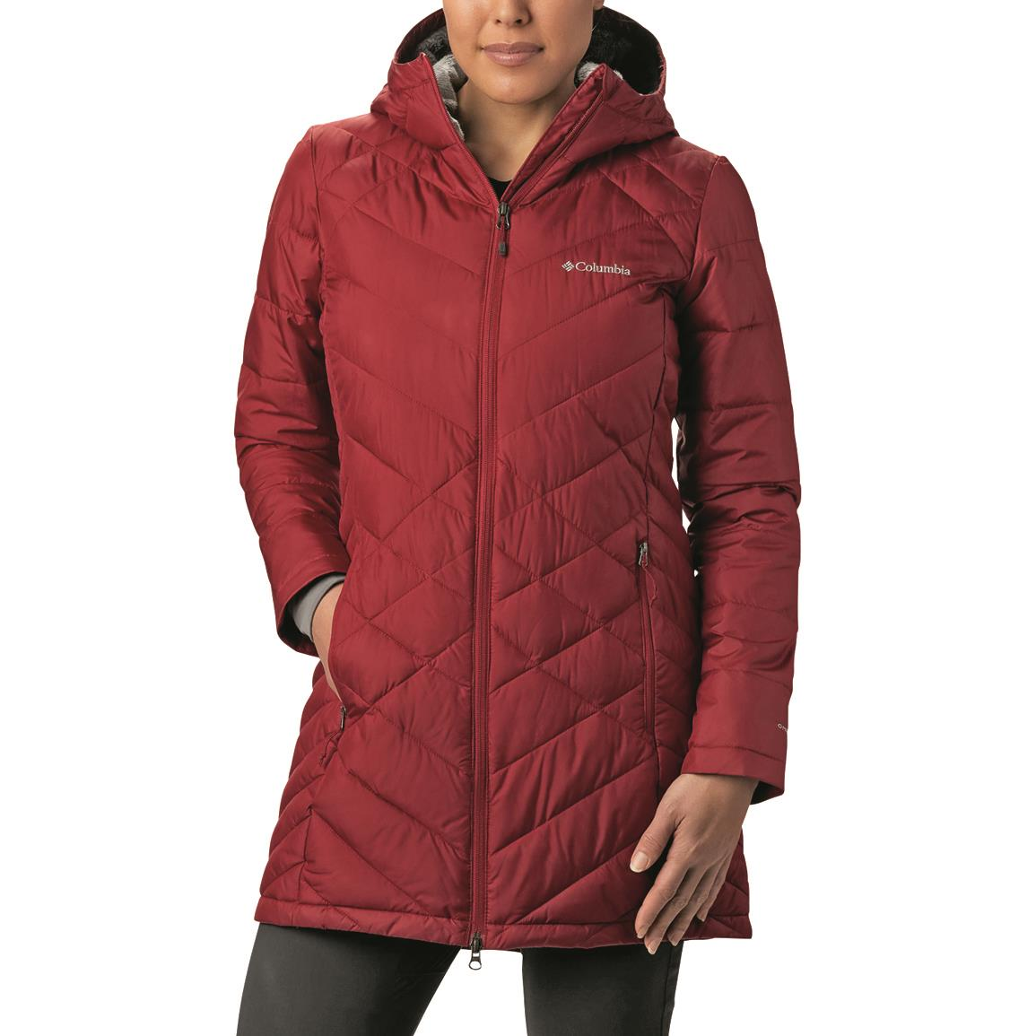 Columbia Women's Heavenly™ Long Hooded Jacket, Beet