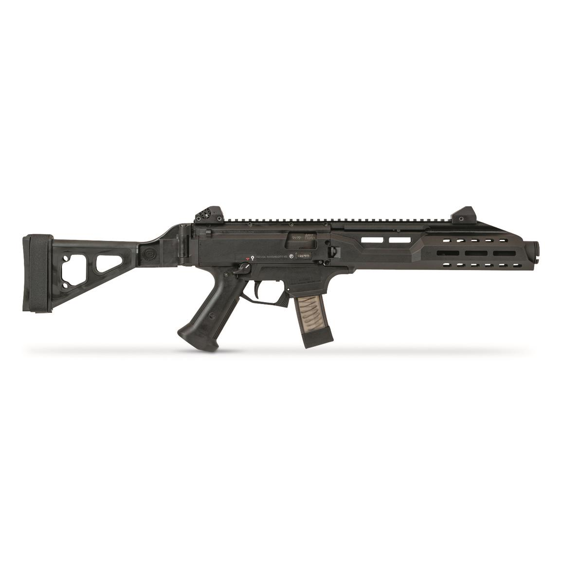 "CZ-USA Scorpion EVO 3 S1 with Flash Can and Fold. Brace, Semi-Automatic, 9mm, 7.72"" Barrel, 20+1"