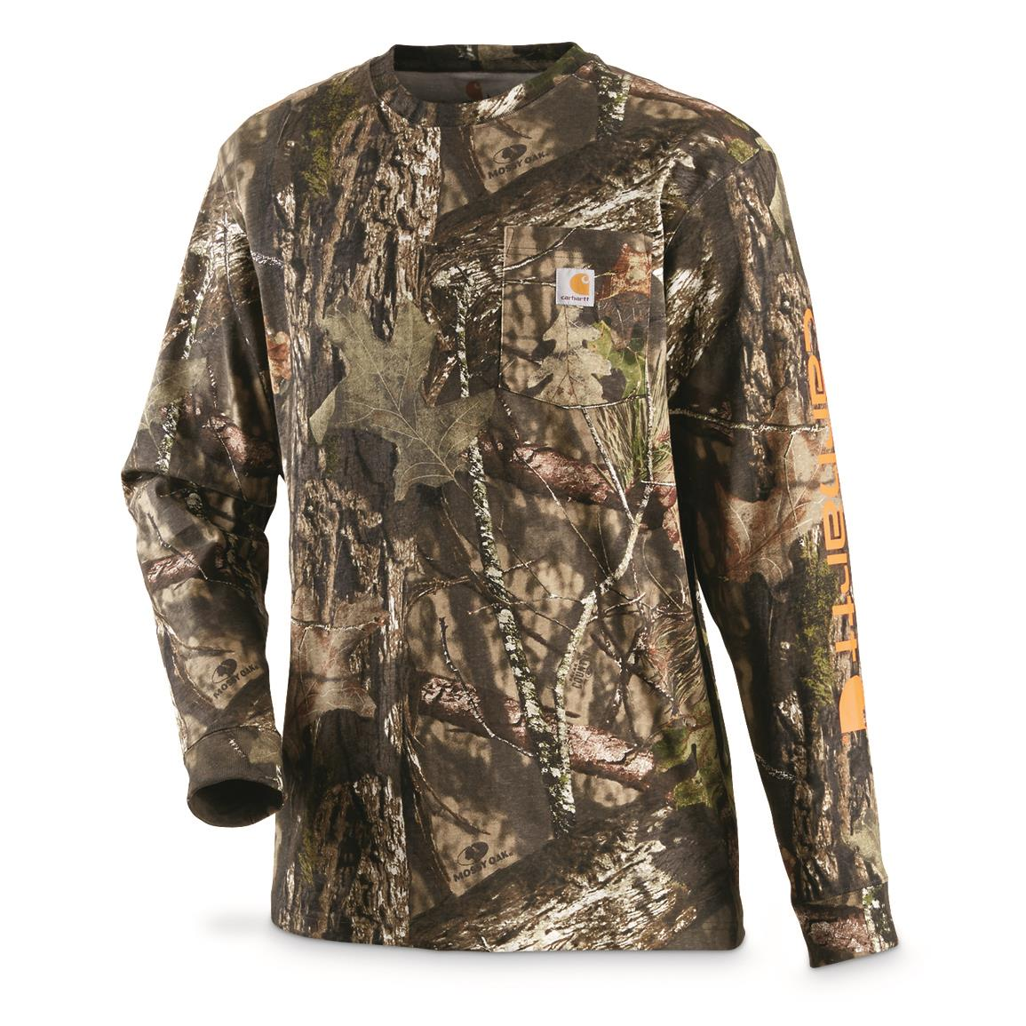Carhartt Men's Workwear Graphic Logo Camo Long-Sleeve T-Shirt, Mossy Oak Break-Up® COUNTRY™