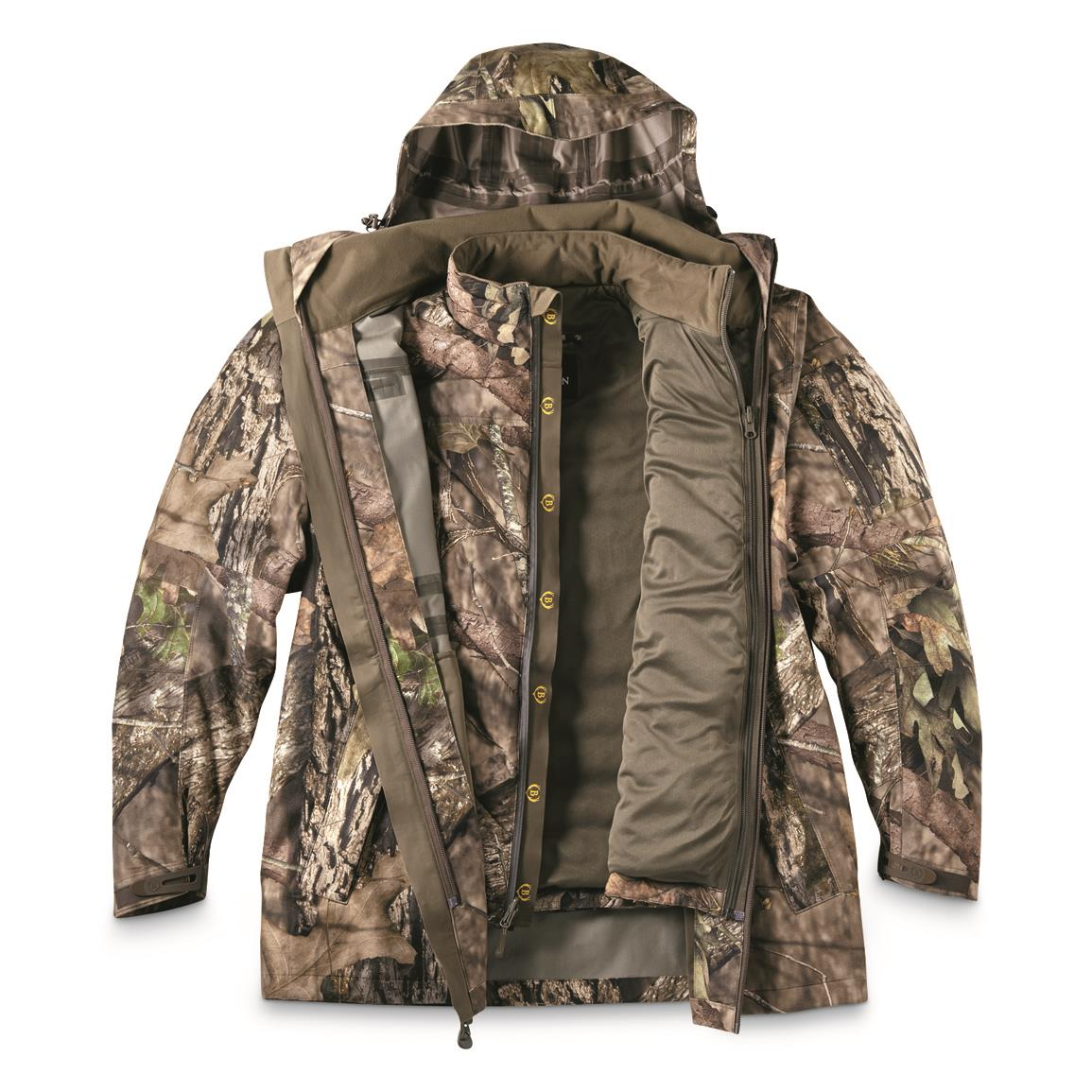 Bolderton Men's Outlands All-Climate Series 3-Piece Parka System, Mossy Oak Break-Up® COUNTRY™