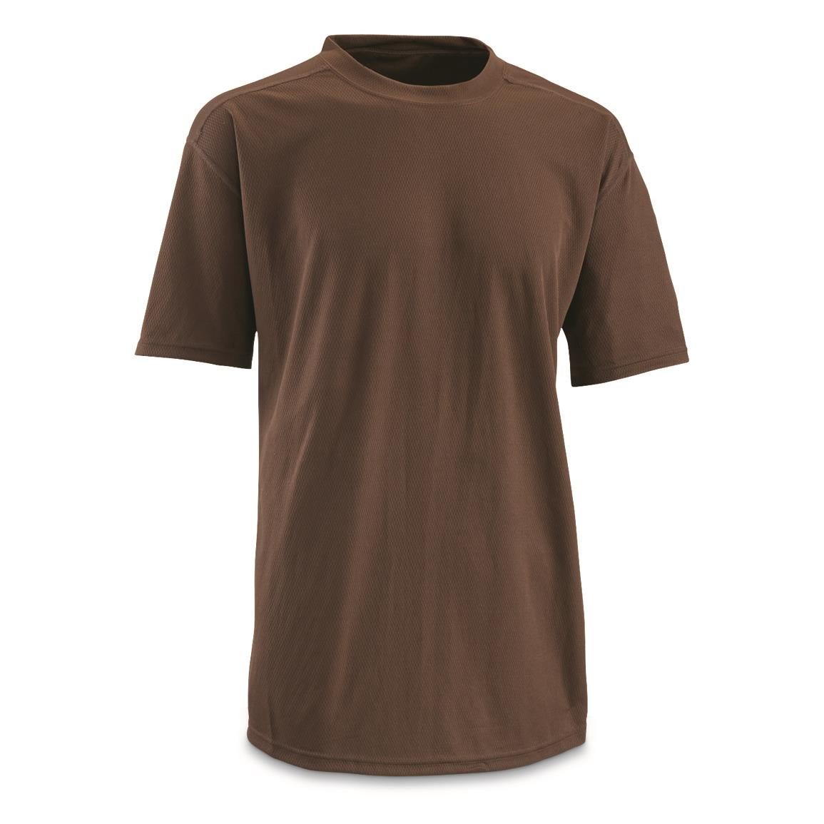 British Military Surplus CoolMax T Shirts, 2 Pack, New, Brown