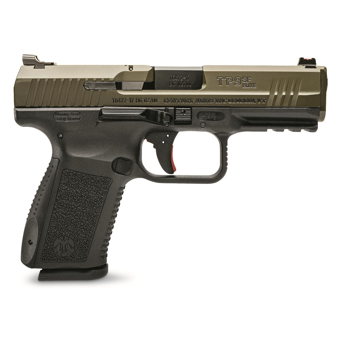 "Century Arms Canik TP9SF Elite, Semi-Automatic, 9mm, 4.19"" Barrel, ODG Slide, 15+1 Rounds"