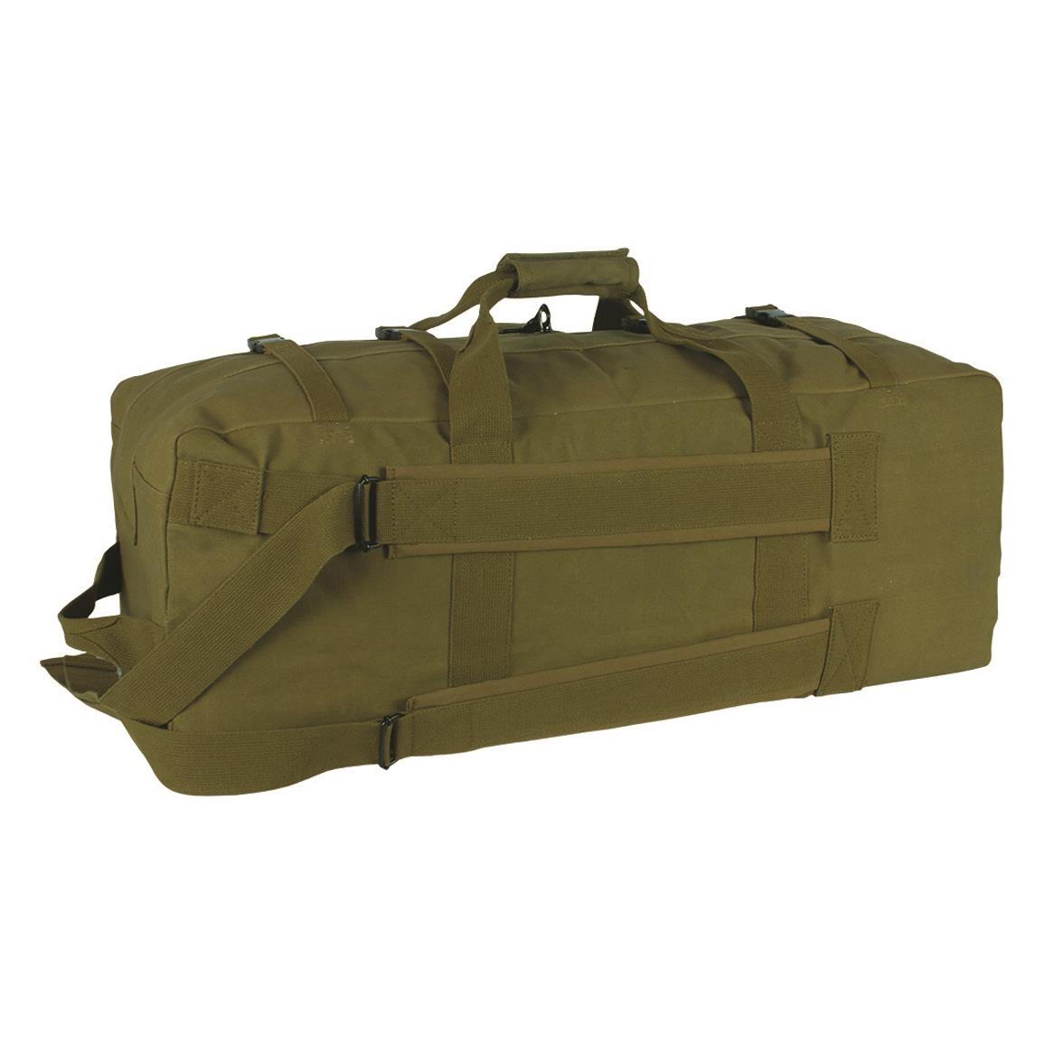 Fox Outdoor Military-Style Gen II Two-Strap Duffel Bag, Olive Drab